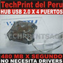 Hub Usb 2.0 4 Salidas Cable Corto Laptop Extension Usb
