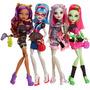 Monster High Pack 4muñecas Noche De Fiesta Y Accesorios 2013