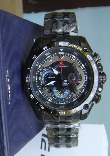 a42a0c1b43b1 Reloj Casio Edifice Ef-550bkrb-1av Black Red Bull - Original en ...