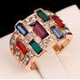 Exclusivo Anillo Multicolor Full Cristales Genuinos Elle851