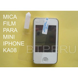 Mica Film Protector De Pantalla Lamina Mini Iphone Ka08