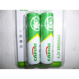 2 X Baterias Recargable 18650 4.2v 8800mah Litio