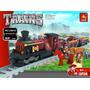 Tren Del Viejo Oeste Y Caballeria, Mod Lego, 531 Pcs, Ausini