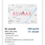 Terreno En La Ensenada De Carabayllo  35mil Dólares
