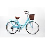 Bicicleta De Paseo Vintage De Mujer Paris Aro 26