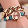 Reloj Pulsera Importado De Dama Correa Tipo Cuero Moda 2016