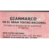 Concierto Gianmarco Viernes 26 De Mayo Platea Baja