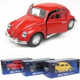 Volkswagen Escarabajo Metal 1:32 Musical Enciende Luces