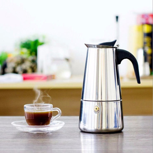 Cafetera Express Steel Moka 9 Tazas 450ml, Acero Inoxidable
