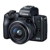 Cámara Canon Eos M50 Aps-c 24.1mp Con Lente 15-45mm 4k