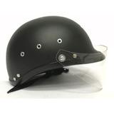 Casco  De Moto   Negro  Mate Con Visor Para Moto