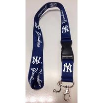 Lanyard Porta Identificación, Llave Usb New York Yankees