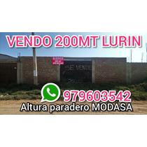 Vendo Terreno 200mt En Los Claveles De Lurin