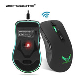 Mouse Gamer  Zerodate X90 Inalambrico Recargable Negro