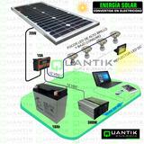 Panel Solar 20watts, Completo+batería+regul+inversor+3 Focos