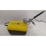 Kit Aerografia Basico Pistola Aerografo Compresor Portatil
