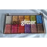Paleta Sombra Glitter Con 12 Colores - Ever Beauty