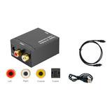 Convertidor Conversor Audio Digital A Rca + Cable Optico