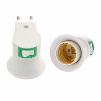 Adaptador Foco Socket E27 Con Interruptor Y Enchufe Luz Led