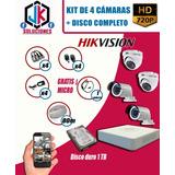 Kit 4 Camaras De Seguridad Disco 1tb ° Cable ° Mouse ° Micro
