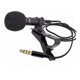 Micrófono Pechero Solapero Celular Estereo + Funda -520b