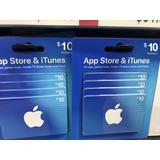 Tarjeta Itunes $10 Gift Card Apple Store Usa