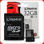 Memoria Micro Sd 32 Gb Kingston Class 10 Sellada - Delivery