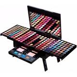 Paleta Set Kit 195 Maquillaje Sombras Labial Rubores Brochas
