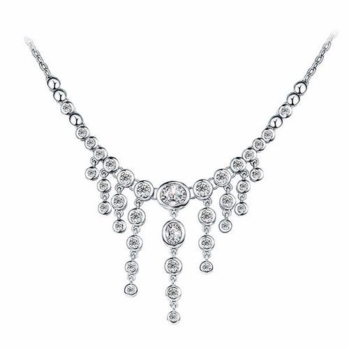 Lindo collar con cristales de swarovski y ba o de rodio s for Bano de rodio precio