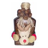 Adorno Botella Reno Decorado Navidad Regalo Hogar Amor
