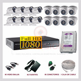 Kit 16 Camaras Hikvision Full Hd 1080p Disco Wester Purple