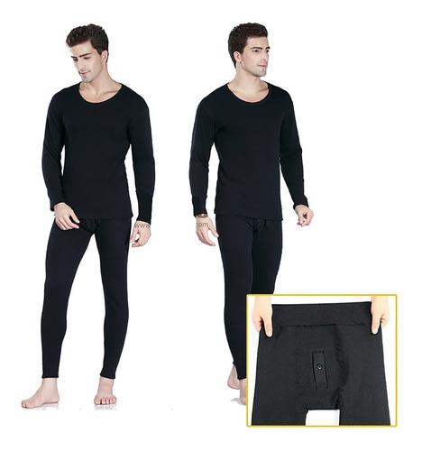 Polo+pantalón Calentador Hombre Micropolar Interno/bragueta
