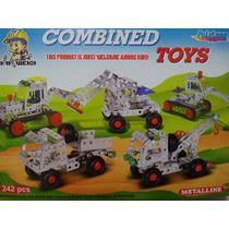 Armable Didactico Con Piezas De Metal (mecano) Camiones