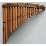Flauta Pan 22 Tubos Bambú Afinación 440 Semiprof Con Funda