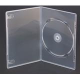 Estuches Caja Cd De Dvd Trans Alta Calidad 14mm X100 1 Disco