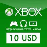 Tarjeta 10$ 800 Puntos Microsoft Card Xbox Live 360 Y One