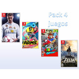 Pack 4 !! Juegos Digitales Nintendo Switch !!