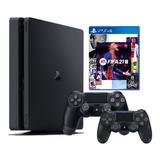 Consola Playstation 4 Slim 1tb + Mando + Fifa 21