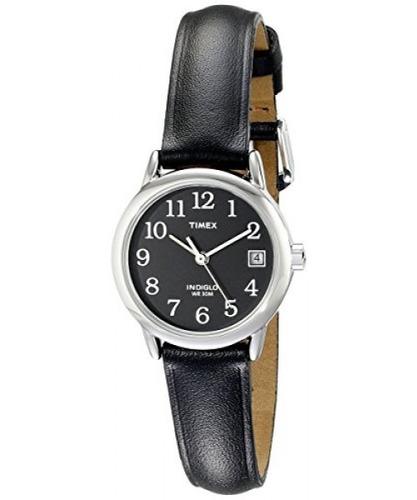 57351f4f4700 Reloj Timex T2n525 Indiglo De Cuero Para Mujer