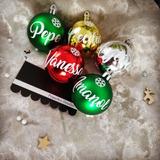 Esferas Navideñas Personalizadas. Bolas De Navidad Nombre