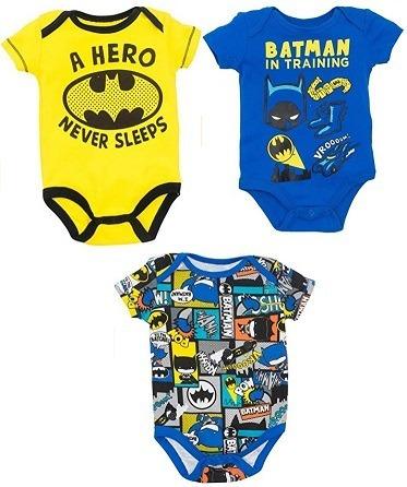 3 Pack Dc Batman Body Para Bebe Niño 3 A 6 Meses Original d12a32d5ff4