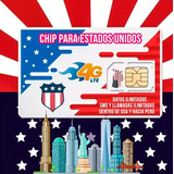 Chip Sim Card Estados Unidos Usa Internet Minutos Ilimitados