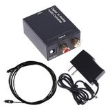 Adaptador Convertidor Audio Óptico A Rca + Cable Optico 1.5m
