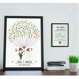 Cuadro De Firmas/árbol Huellas/tintas Colores/almohadillas
