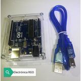 Arduino Uno R3 Diseño Original + Cable +case