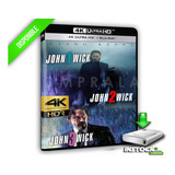 Peliculas John Wick Trilogia 4k 2160p Ultrahd Digital