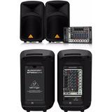 Sistema Completo Mezcladora 2 Parlantes Eps500mp3 Behringer