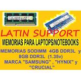 Memoria Sodimm Para Laptops 4gb Ddr3l 1.35v Nuevas Selladas
