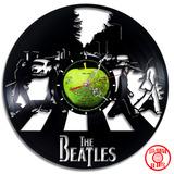 Reloj De Pared The Beatles Retro Vinilo Delivery