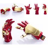 Usb Iron Man 16 Gb Mano Articulable Iluminada